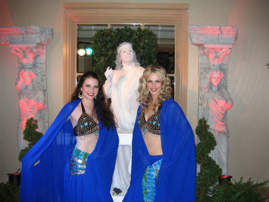 Belly Dancers with Statue