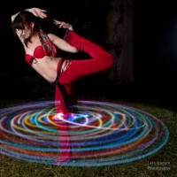 Blossom Hoops - Fire Dancer in Virginia Beach, Virginia