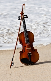 Violin on the Beach