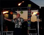 Fire juggling!