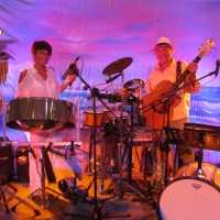 Bruce Neumann and Tiki D - Steel Drum Band in Laredo, Texas