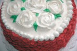 Flower Cake with Basket Weave