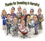 Harrahs Team Caricature