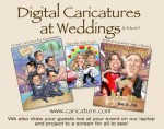 Digital Caricatures at Weddings