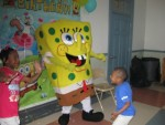 Sponge Bob at the party!