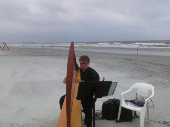 """Noreaster"" Beach Wedding, Jacksonville Beach"