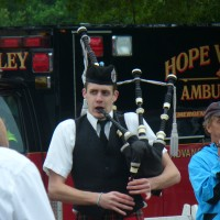 Charly Slagle - Bagpiper in Manhattan, New York