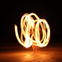 Christen Harris - Fire Performer in Tampa, Florida