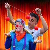 Cissy and The Man - Traveling Circus in Philadelphia, Pennsylvania