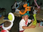 Entertaining with Balloons in A School in Cuba