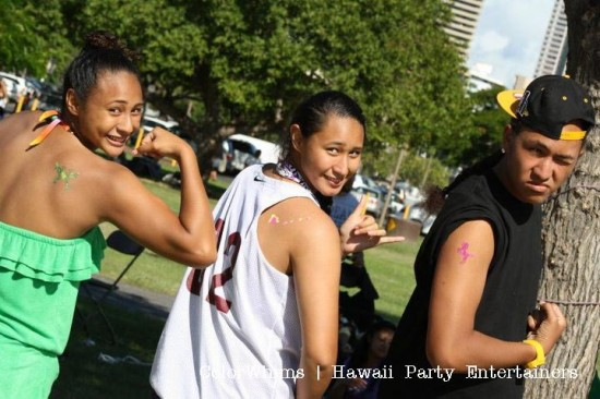 Party Tattoos in Hawaii Oahu Honolulu