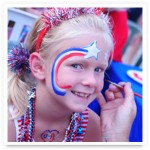 Patriotic July 4th face painter