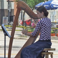 Cora Wiese Moore, Harpist - Cajun Band in Madison, Wisconsin