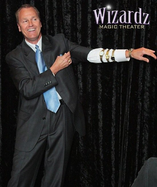 Performing at Wizardz Comedian Gary Roberts