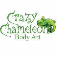 Crazy Chameleon Body Art