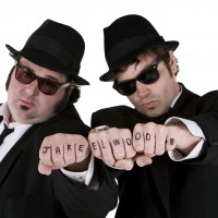 Dan and Dave as The Blues Brothers - Impressionist in Redding, California
