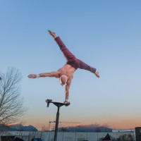 Darren Bersuk (Power Tower) - Balancing Act in Bellingham, Washington
