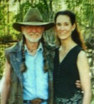 On location with Willie Nelson of film Gone Fishin'
