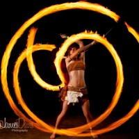 Deux Flammes - Fire Dancer in Austin, Texas
