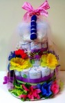 2 Tier Girl Theme Diaper Cake