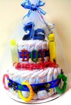 2 Tier Boy Theme Diaper Cake