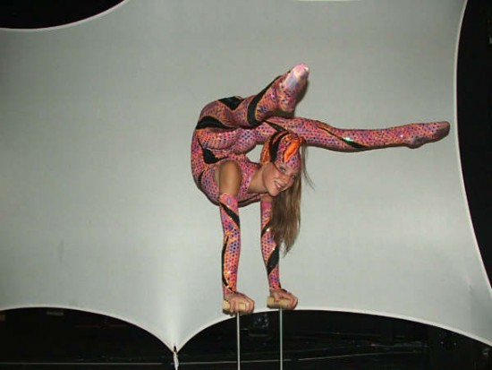 contortion on table
