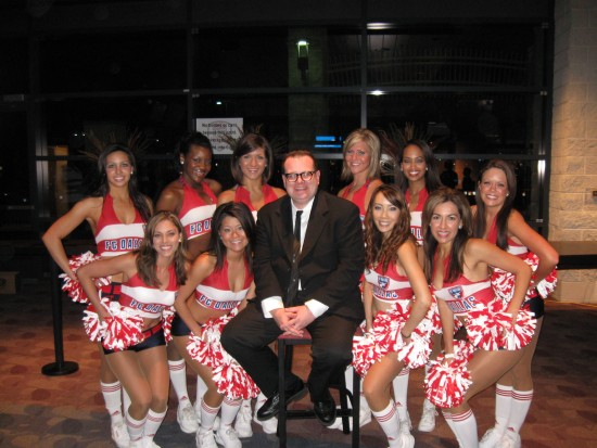 With the FC Dallas Dance Team