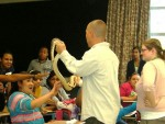 Ed teaching a third class at school event