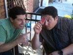 Erick Olson with Greg Grunberg from Heroes