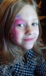 Hair Feather and Face Painting