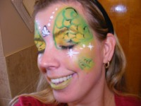 Face painting by Sarah