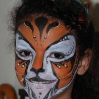 Face Painting in Action by Katie - Airbrush Artist in Woodmere, New York