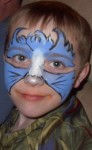 Blue Fire Mask Face Painting