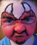 Devil Face Painting