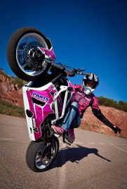Female Motorcycle Stuntwoman
