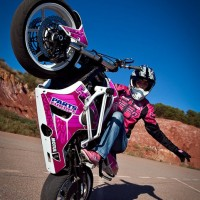 Female Motorcycle Stuntwoman - Sports Exhibition in Jersey City, New Jersey
