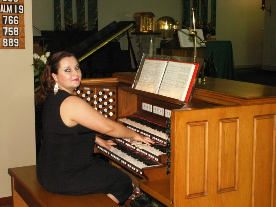Irina by the organ