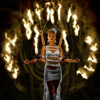 Fire By The Palm Productions - Fire Dancer in Opelousas, Louisiana