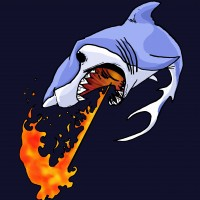 Fireshark Face Art