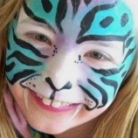 Flutterby Faces Face Painting - Clown in Birmingham, Michigan