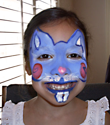 Fun Face Paint Blue Bunny