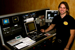 Our technician, Cory Collinson at &amp;quot;Mission Control&amp;quot;.