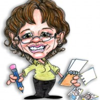 """Giggles""  Caricatures by Deb Donnelly - Caricaturist in Wheeling, Illinois"