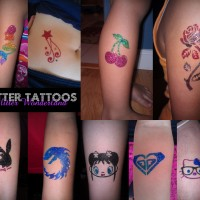 Glitter Wonderland Temporary Glitter Tattoos - Airbrush Artist in Honolulu, Hawaii
