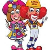Handy Andy & Blossom - Clown in Greenville, Mississippi