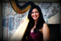 Boston Harpist Lizary Rodriguez - String Trio in Brunswick, Maine