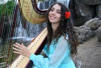 Harpist Tatyana - Cajun Band in Maui, Hawaii