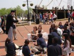 Miming at the Maritime Festival in Annapolis