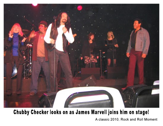 Chubby Checker and James Marvell do a song