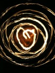 Heart Fire Hoop
